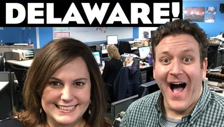 """The News Journal's """"Hi, I'm in Delaware"""" pop culture podcast is recorded weekly in the newsroom."""