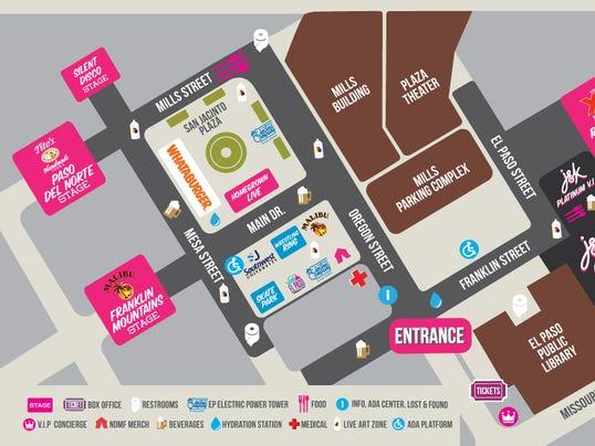 Neon Desert Music Festival map