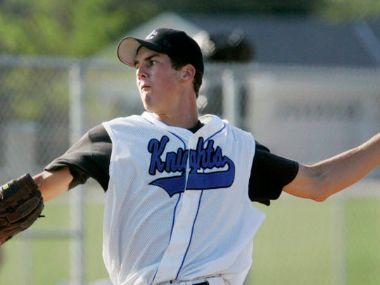 Oak Creek pitcher Tony Butler, shown here during his senior season, played a key role in the Knights' three-year run of state championships.