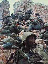 Marines assaulting the Dong Ba Tower on Feb. 15, 1968.