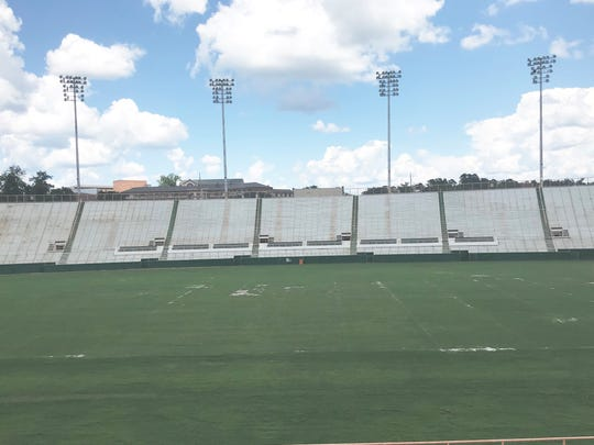The old grass at Bragg Memorial Stadium will be replaced