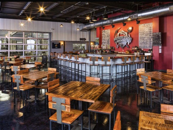 Enjoy a fabulous brunch and matching brew at Badger State Brewing Company on February 11th