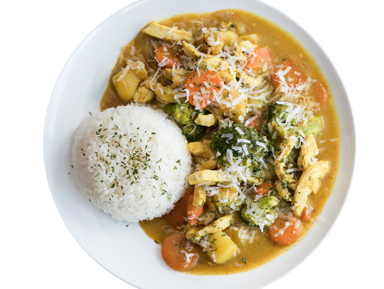 Coconut Chicken Curry is on the list of lunch specials