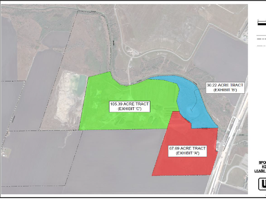 SQH Sports and Entertainment is seeking a public-private partnership agreement with the City of Corpus Christi to lease about 203 acres near state Highway 286 and Farm-to-Market Road 43 for a regional sports complex.