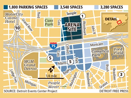 Arena parking plan