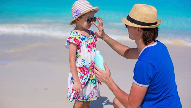 Reapply sunscreen every two to three hours while you're exposed to the sun.