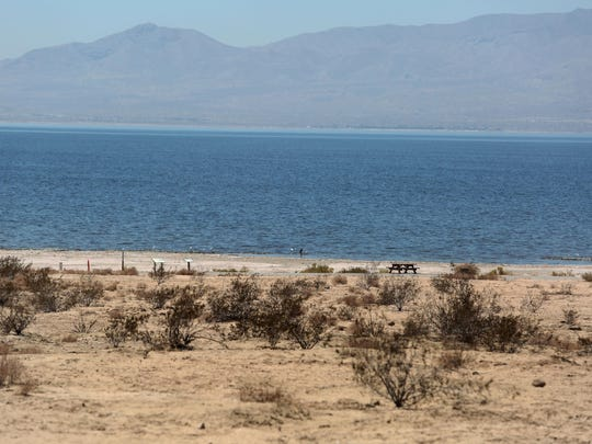 Mecca Beach Campground is seen along the Salton Sea on July 28, 2015.