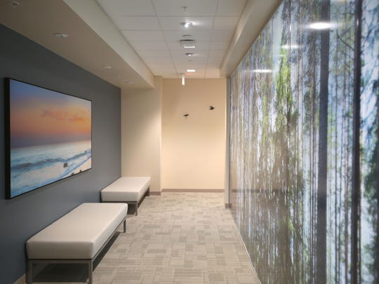 Calming area decorate the Betty Ford Center in Los Angeles on Thursday.