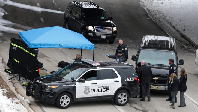 The body of an adult female was found in front of the Milwaukee Art Museum.