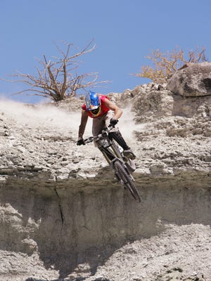 Aaron Chase, who rides for Red Bull, is doing a mega endurance ride in the Louisville Mega Underground Bike Park.