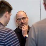 New York Yankees general manager Brian Cashman listens to questions from members of the media after baseball general managers meetings, Tuesday, Nov. 10, 2015, in Boca Raton, Fla. (AP Photo/Wilfredo Lee)
