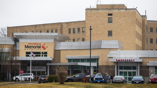 The five-story, 110-patient bed building of Taylorville Memorial Hospital was built in the 1950s and will be replaced by a new hospital kitchen, cafeteria and administrative offices to be completed by March of 2021.