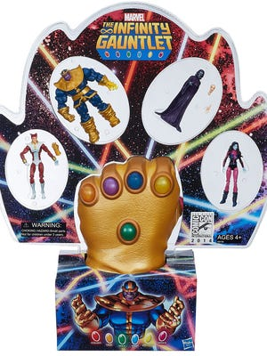 For comic-book fans who've ever wanted their own Infinity Gauntlet, Hasbro answers their prayers with a special Marvel toy set available at Comic-Con this July.