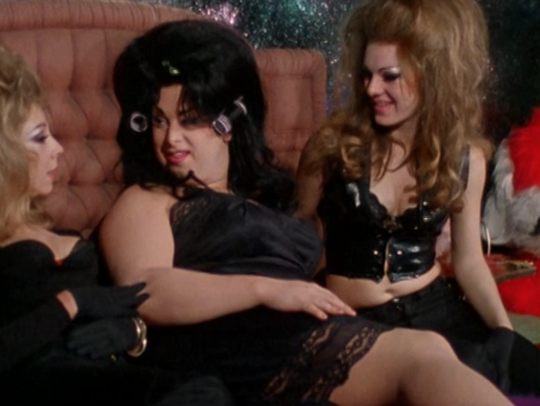 Divine (center) Susan Walsh and Cookie Mueller as they