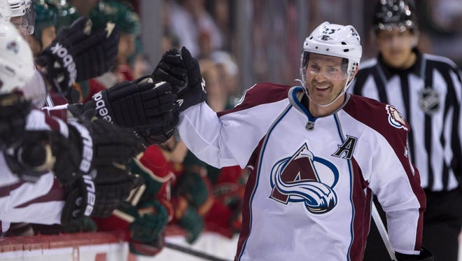 Forward Milan Hejduk scored 375 goals in 1,020 games, all with the Colorado Avalanche.