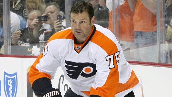 Hal Gill played six games for the Flyers this season.