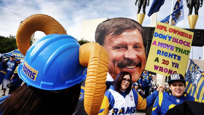 Rams fans in Los Angeles are ready to welcome back the team to Southern California, but it remains to be seen whether NFL owners will approve the relocation.