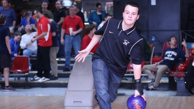 Fort Lee senior David Grant averaged 241.3 to finish sixth at the state individual bowling finals Wednesday at Bowlero North Brunwsick.