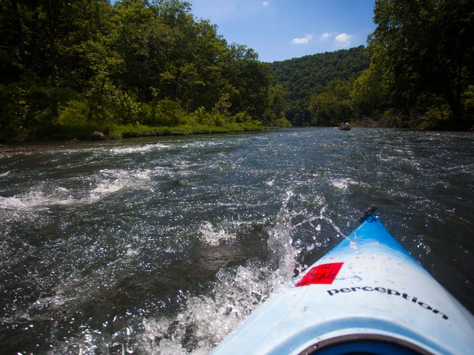A few sections of fast moving rapids can be found on