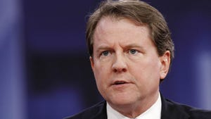 White House counsel Don McGahn was barely on speaking terms with President Donald Trump when he left the White House last fall. But special counsel Robert Mueller's report released Thursday, April 18, 2019, reveals the president may owe his former top lawyer a curious debt of gratitude.