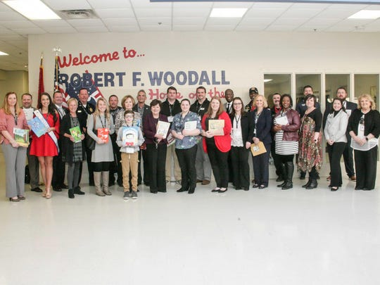 Robert F. Woodall Elementary in White House hosted more than 20 readers last week during Read Across America.