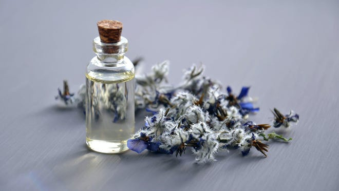 Lavender essential oil is said to decrease anxiety, stress and help with sleeplessness.