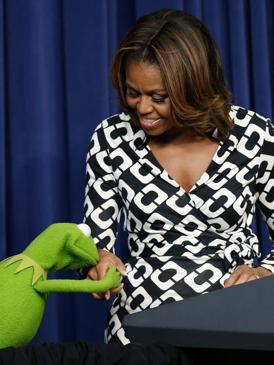 Michelle Obama Kermit the Frog
