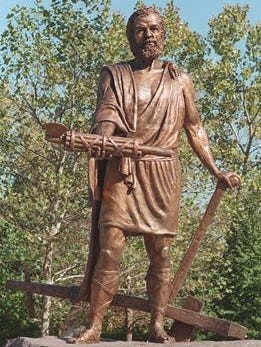 Bronze statue of Cincinnatus, located in Bicentennial Commons at Sawyer Point Park. It took Ewart Sink Simpkinson's  vision and advocacy to transform the riverfront  into a gathering place that flourishes today as Sawyer Point Park