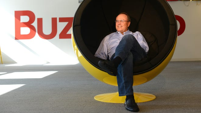 Greg Coleman, president of BuzzFeed, in their New York office on Aug. 25.