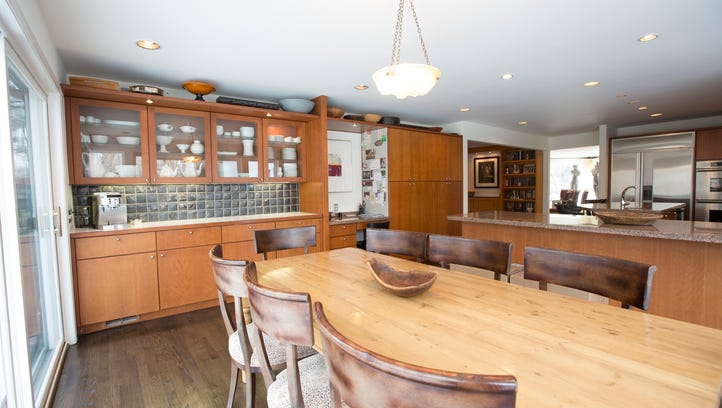 The kitchen integrates the finest amenities surrounded