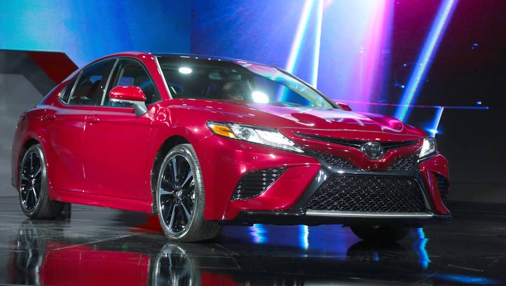 The new 2018 Toyota Camry XSE is unveiled during the
