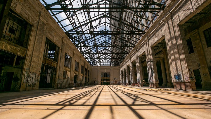 Ford's plans for its big Detroit train station party on Tuesday