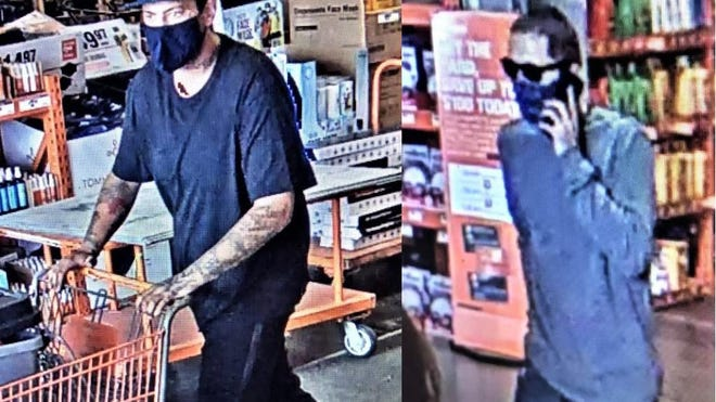 The Pueblo Police Department is asking for the public's help in identifying these two suspects wanted in connection with an armed robbery at Home Depot.