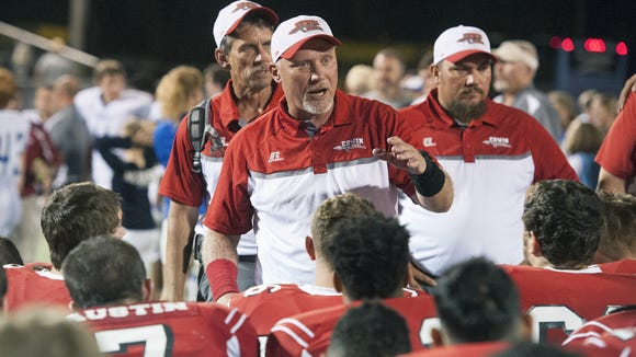 Erwin football coach Mike Sexton and the Warriors host Franklin on Friday.