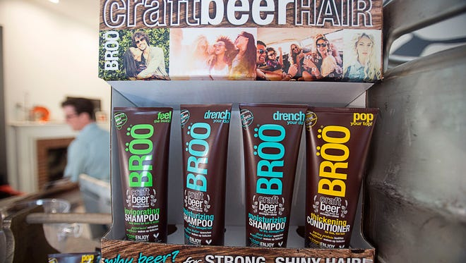 Broo Shampoo is a local business owned by Brad Pearsall and Sarah Duran that makes beer-based shampoo.