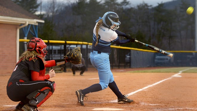 Mariah Foxworth (3) and Enka are one of two undefeated softball teams in the Mountain Athletic Conference along with Reynolds.