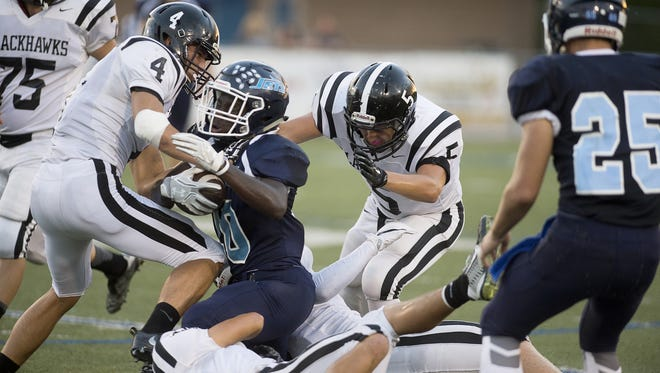 Enka defeated North Buncombe, 35-28, on Thursday night in Candler.