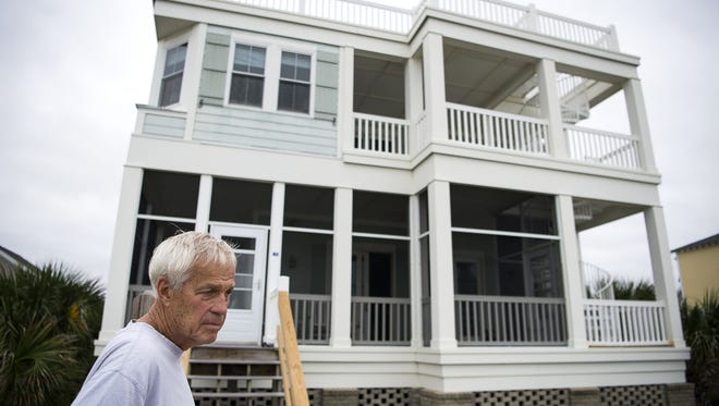 Paul Saylor, 74, plans to stay in his Pawleys Island through Hurricane Matthew. Town officials are telling residents they cannot rescue them in the event of flooding or high winds.