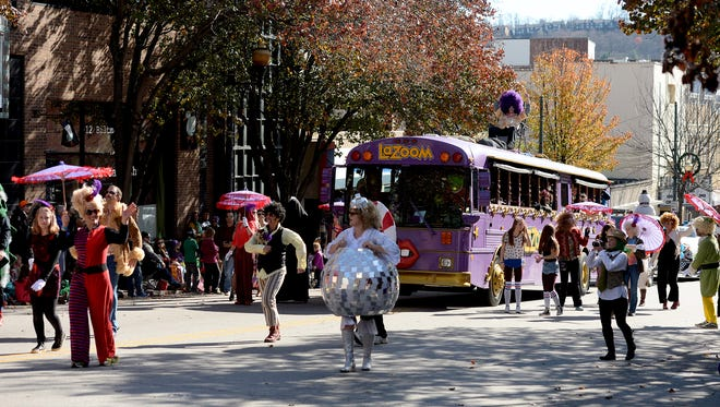 "More than 100 entires made their way down Biltmore and Patton Avenues in the Asheville Holiday Parade on Saturday, Nov. 21, 2015. The theme of this year's parade was ""Joy to the World."""