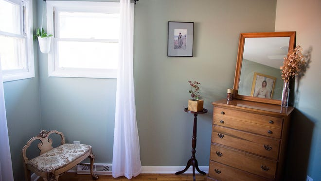 A North Carolina bedroom that has been rented as an Airbnb.