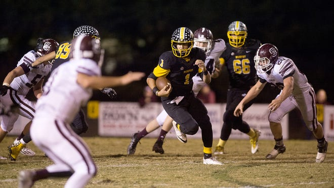 Joey Curry (1) and Murphy will play for the NCHSAA 1-A football championship on Saturday in Chapel Hill.