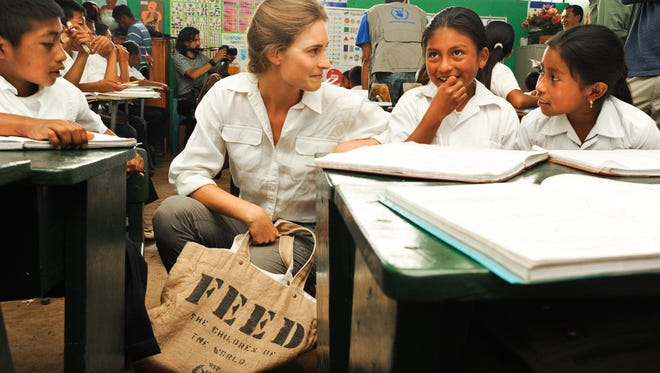 School lunch programs such as this one in Guatemala, are among the best because they  convince parents to send children to school, where they get education as well as food.