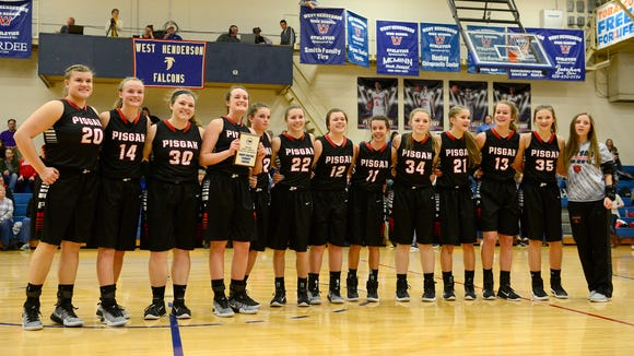 The Pisgah girls won the WNC Athletic Conference basketball