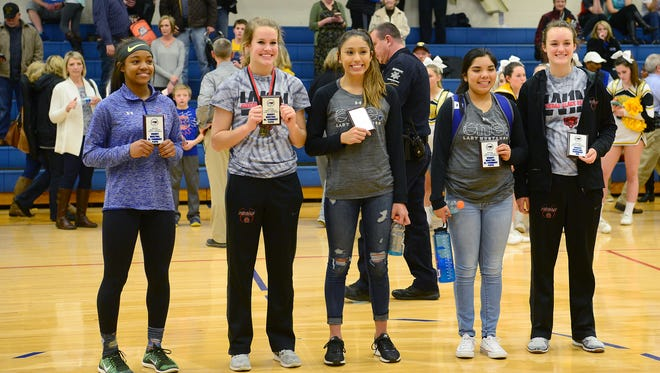 The Western North Carolina Athletic Conference all-tournament team.