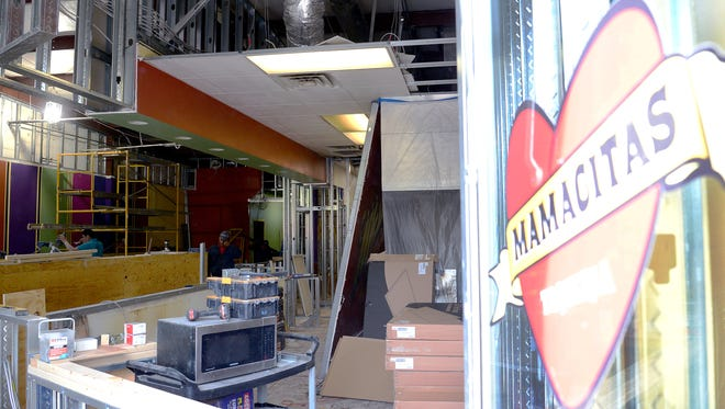 Mamacita's downtown on Biltmore Avenue is temporarily closed for a major renovation. The restaurant will be getting a bar, an additional window and even a change in the door location.