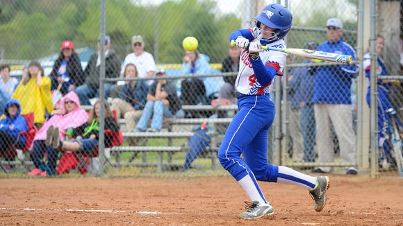 Madison junior Hannah Jennings is one of the top hitters for the Patriots and 17-0 as a pitcher this spring.