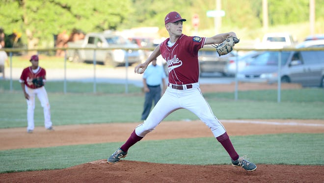 Jack Ponder was the winning pitcher for the Asheville Post 70 American Legion baseball team on Tuesday night.