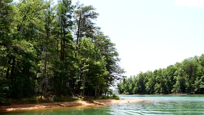 Lake James in McDowell County.