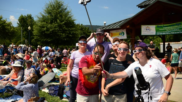 Sylva held a Downtown Solar Eclipse Festival as the