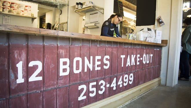 The takeout counter at the new location of 12 Bones. The restaurant was named one of the most-visit eateries in Asheville by RewardExpert.